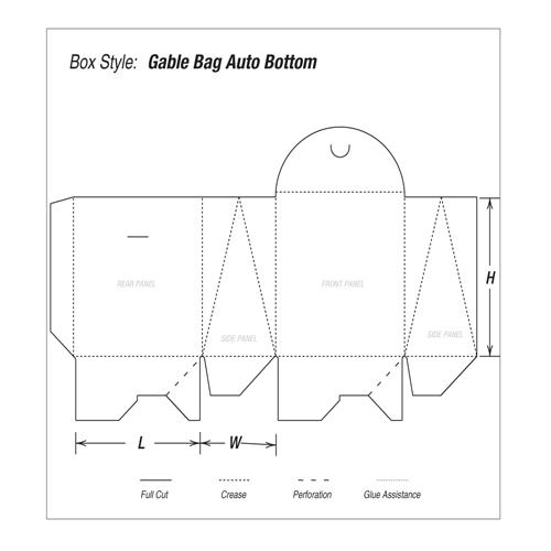 Gable Bag Auto Bottom Printing