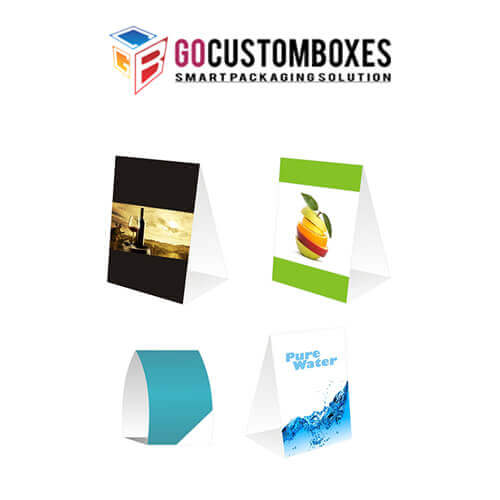 custom table tents printing