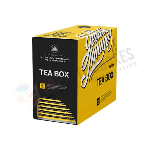 custom designed tea box
