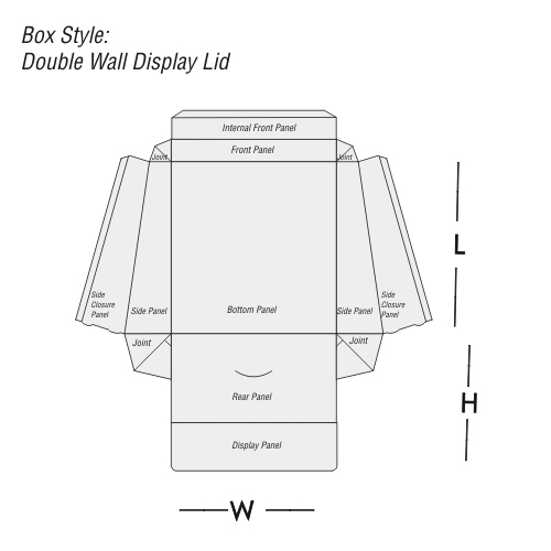 Double Wall with Display Lid Printing