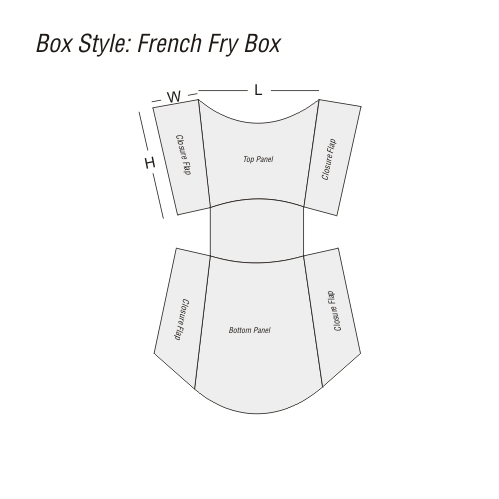 French Fry Boxes Printing