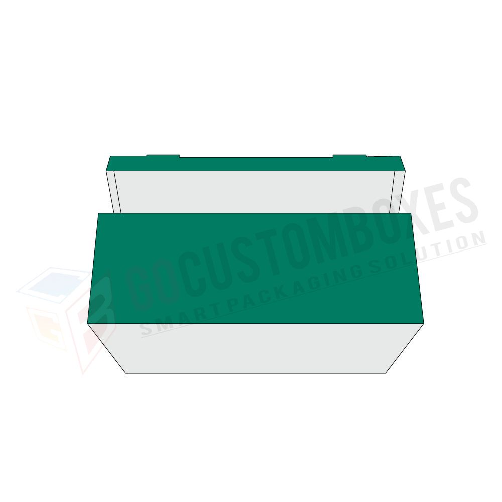one piece tray and lid with reinforced side walls