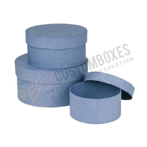 round cardboard boxes with lids