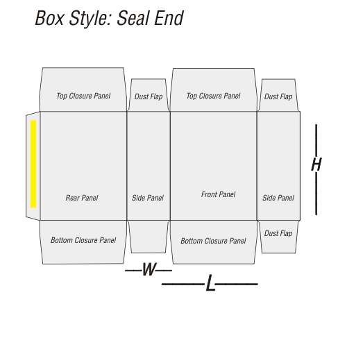 Seal End printing template
