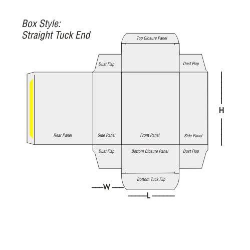 Straight Tuck End Printing