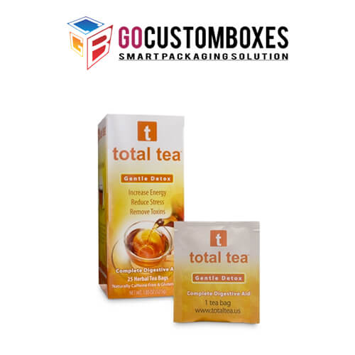 tea packaging template